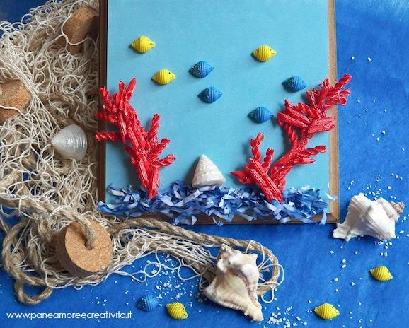 pesci e coralli di pasta
