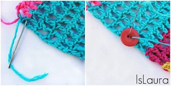 sciarpa bottone