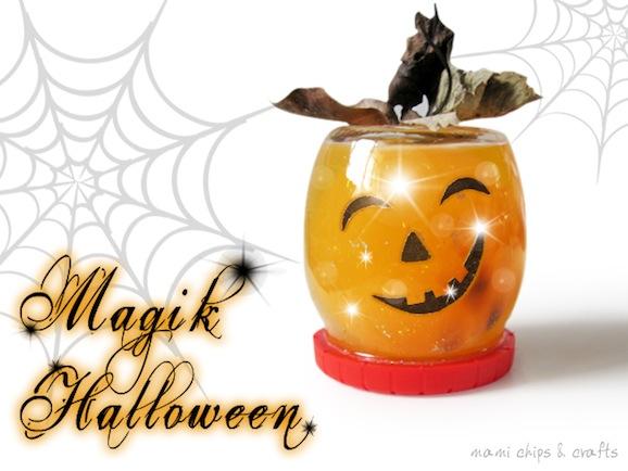 lavoretti halloween - zucca magica