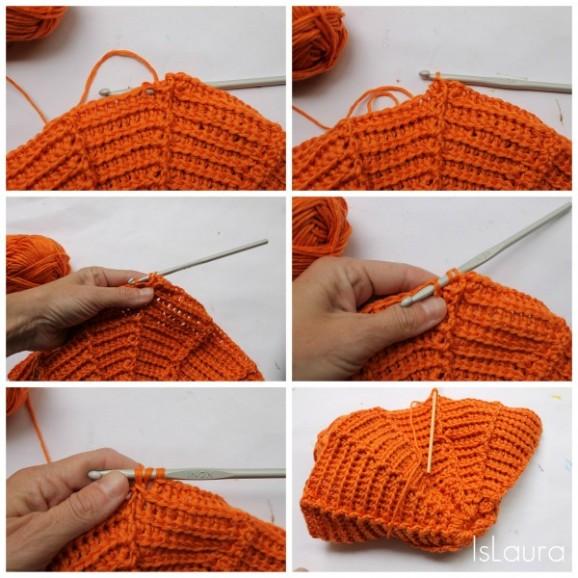 punto cappello arancione