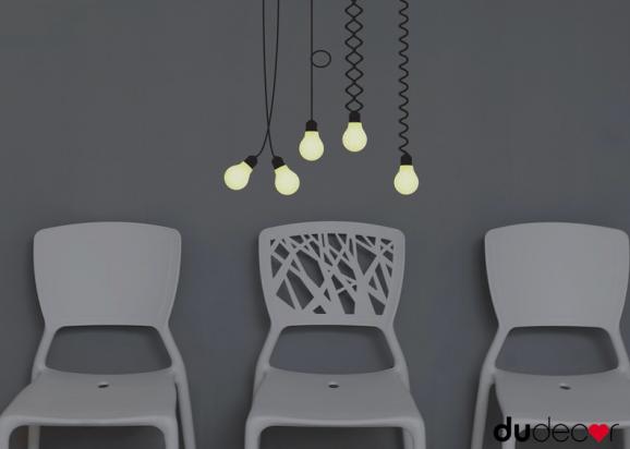 adesivo luminoso lampadine