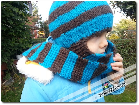 cappello con sciarpa