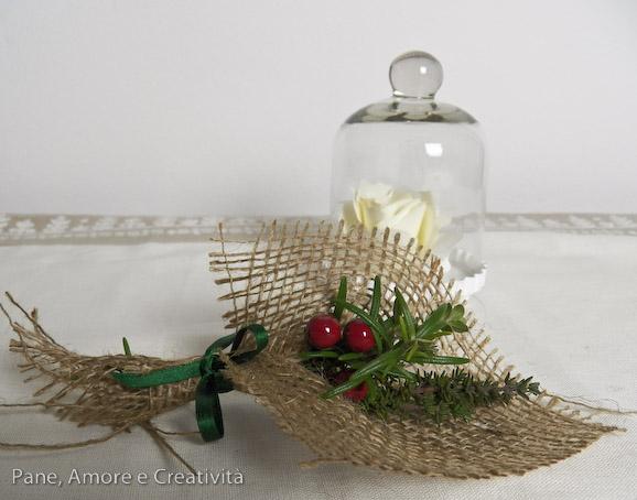 Natale al verde: bouquet segnaposto di natale