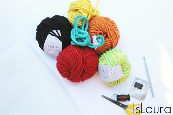 2 occorrente per pupazzo a crochet