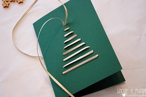 Come Creare Biglietti Di Natale.Come Fare Un Biglietto Di Natale Con Nastri Passati Nella Carta