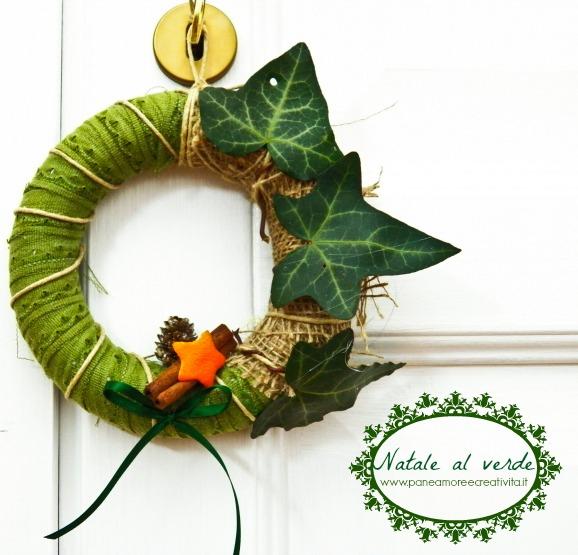 Natale al verde: la ghirlanda di Natale