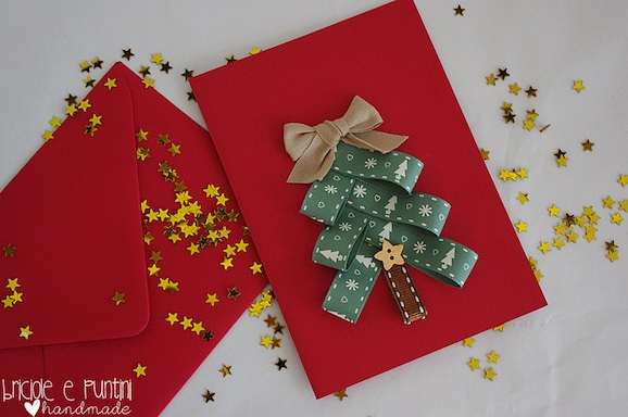 Biglietti Di Natale Fai Da Te Con Foto.Come Fare Un Biglietto Di Natale Con I Nastrini Pane Amore E