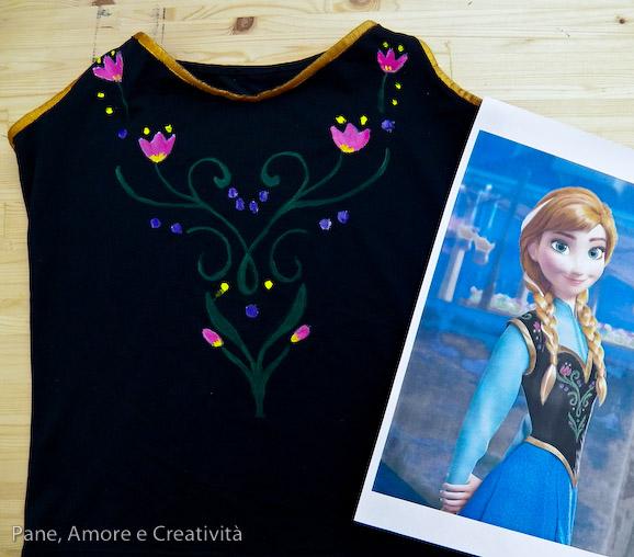 costume Anna di Frozen