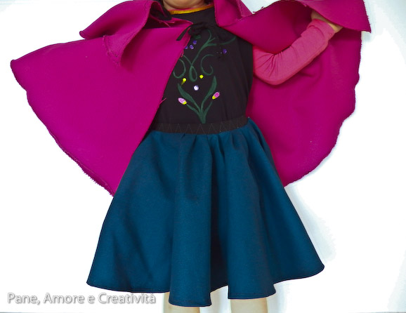 costume anna frozen indossato