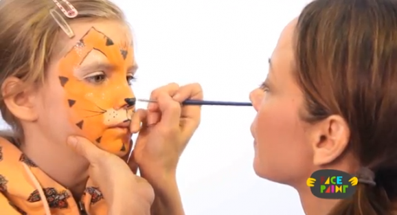 trucco costume da tigre