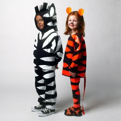 costume da tigre e zebra