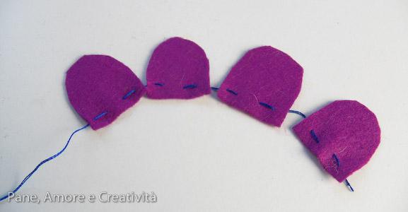 fiore viola di feltro 2