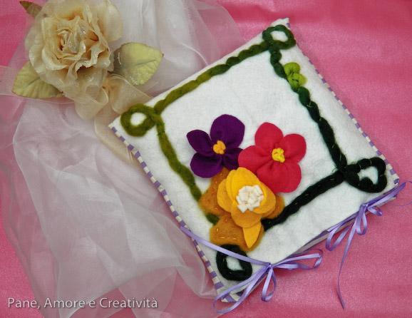 Tutorial: il cuscino di noccioli di ciliegia con fiori di feltro