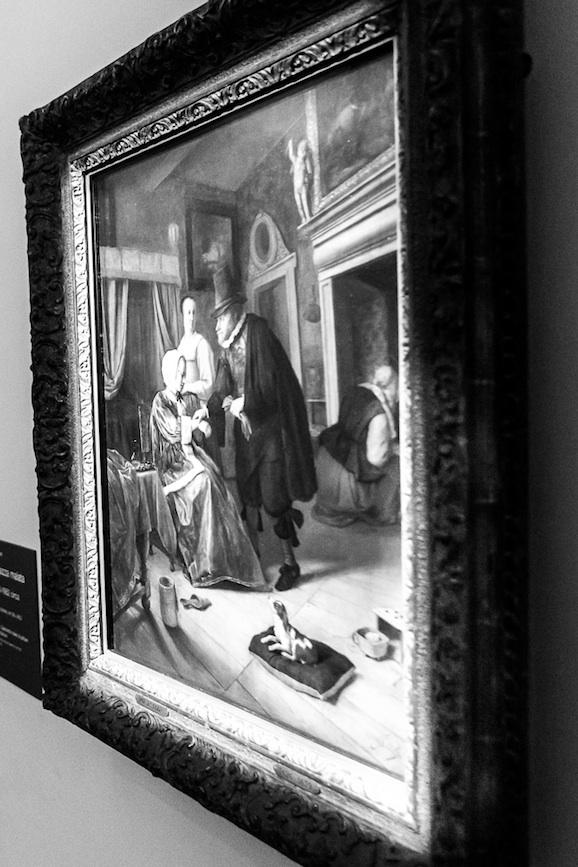 Jan Steen Ragazza malata 1660-1662 circa olio su tavola, cm 58 x 46,5 acquisito dal principe Guglielmo V nel 1768 (Inv. n. 167)