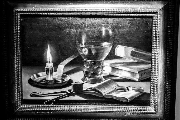 Pieter Claesz Natura morta con candela accesa 1627