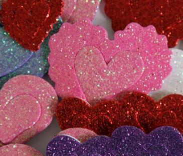 cuori glitter