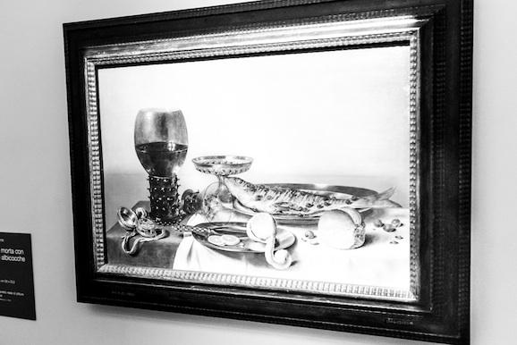 Willem Claesz Heda Natura morta con bicchierone e orologio
