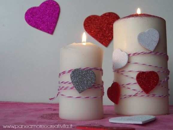 candele con cuori