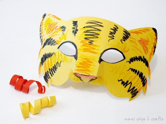 Carnevale fai da te la maschera da tigre da costruire for Costruire uno stimatore dei costi della casa