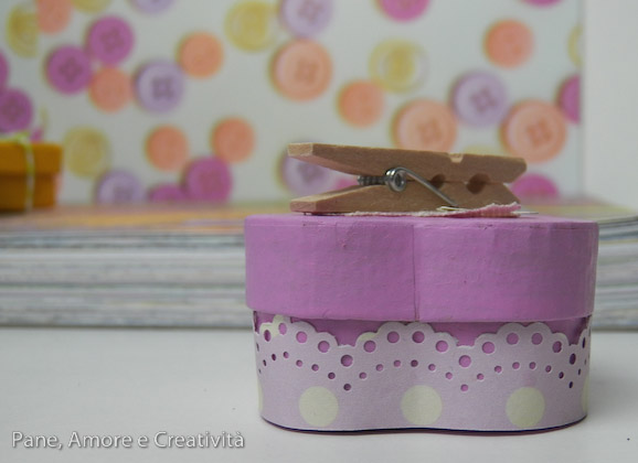 scatola rosa con pizzo