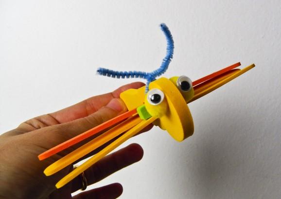 libellule in gomma crepla gialla