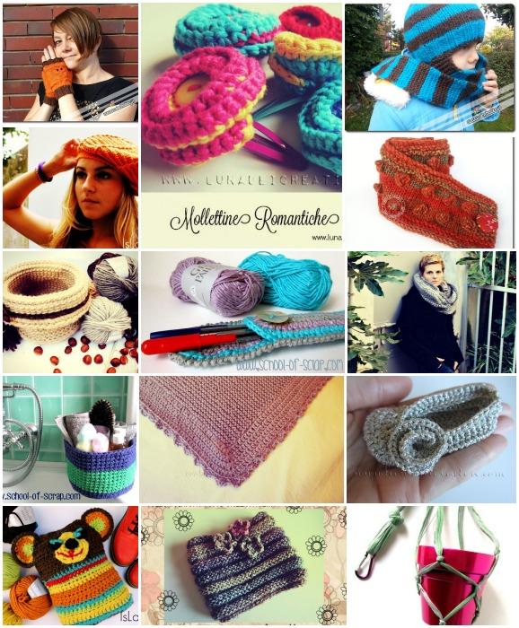14 tutorial a maglia e uncinetto per realizzare accessori per la casa, i bambini e per noi!