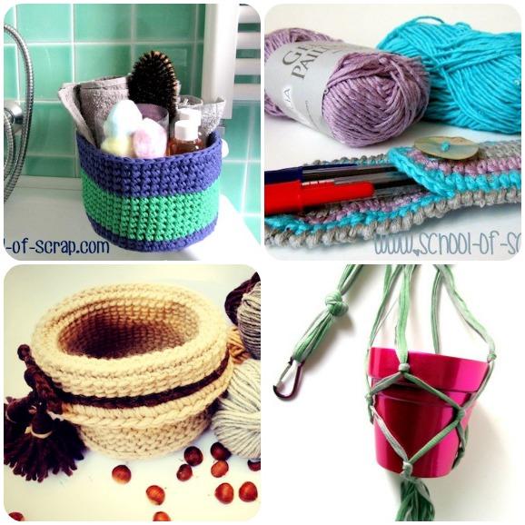 14 tutorial a maglia e uncinetto per realizzare accessori - Accessori per la casa ...