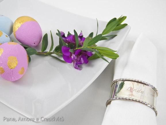 uova di pasqua eleganti e segnaposto