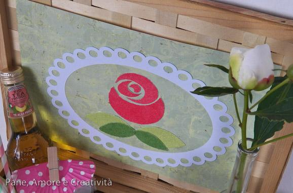 rosa stencil con sabbiarelli