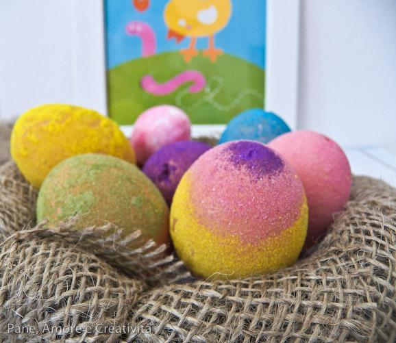 uova di pasqua glitterate