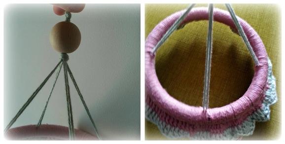 giostra di primavera a crochet