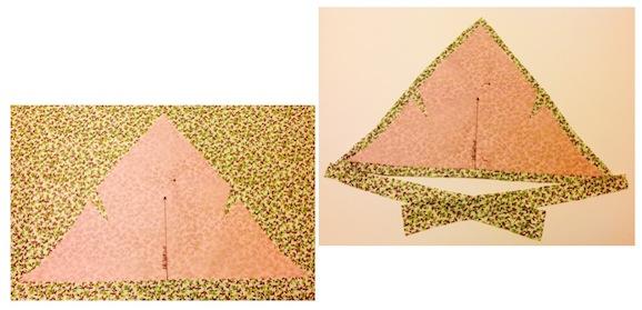 foto taglio della stoffa - foulard per bambina