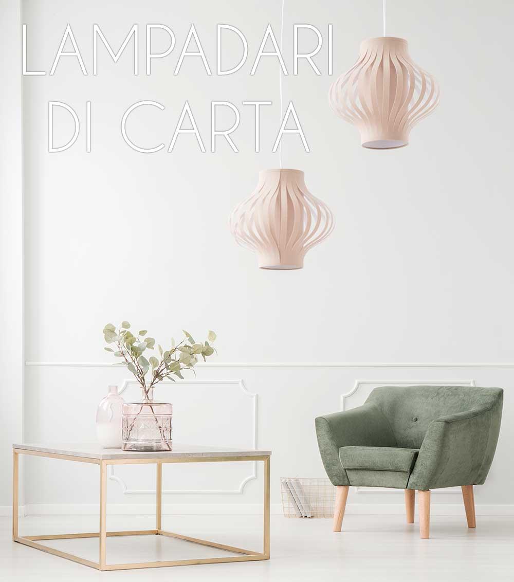 lampadari di carta fai da te