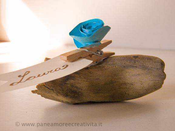 Matrimonio Spiaggia Fai Da Te : Matrimonio fai da te il segnaposto con legni del mare e rose