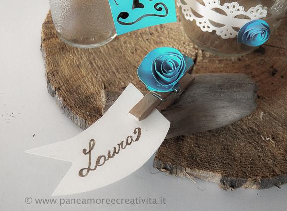 Segnaposto Matrimonio In Legno : Matrimonio fai da te il segnaposto con legni del mare e rose