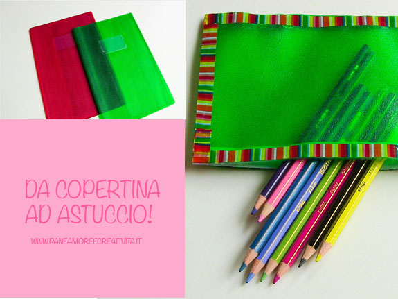 Come riciclare le copertine di plastica dei quaderni - Riciclare tutto in casa ...