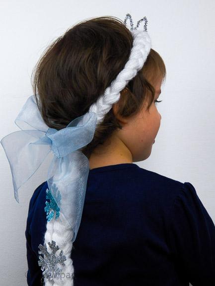 parrucca elsa frozen fai da te
