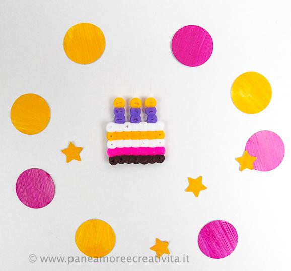 cake - pyssla beads ikea