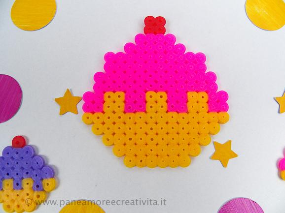 cupcake - perline Pyssla Ikea