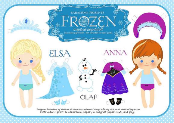 bambole di carta - frozen