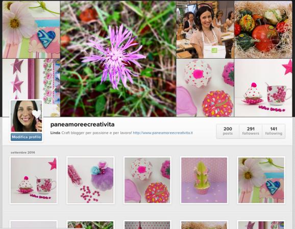 instagram pane, amore e creatività