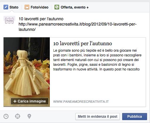 anteprima link facebook