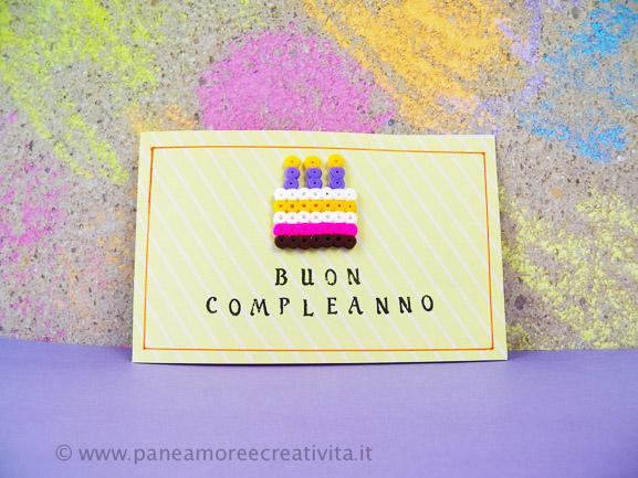 Tutorial: il biglietto per il compleanno con la torta di perline