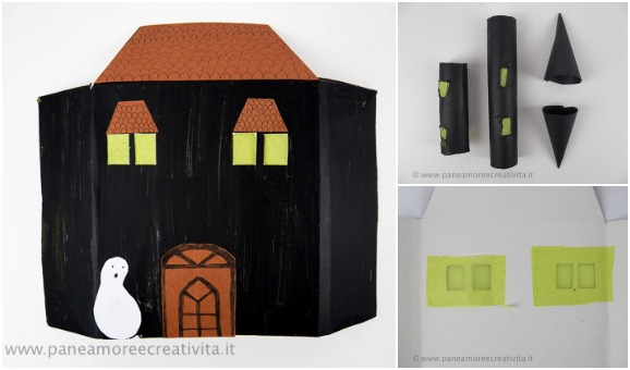 casa stregata di cartone