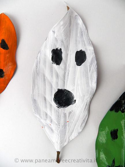 foglia_fantasma-lavoretti di halloween