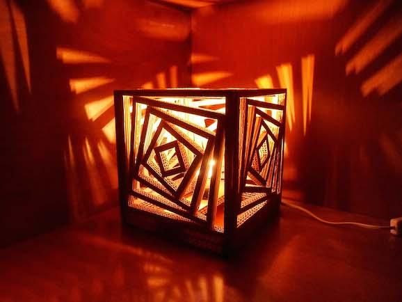 Eccezionale Come fare una lampada di cartone | Pane, Amore e Creatività LX22