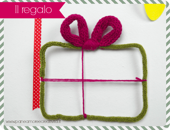 decorazione natalizia con il tricotin