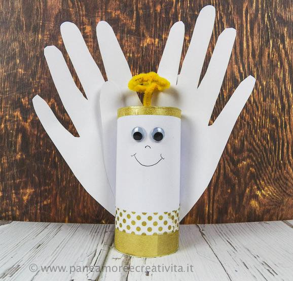 Come fare un angioletto con i tubi di cartone pane amore e creativit - Lavori da fare a casa ...