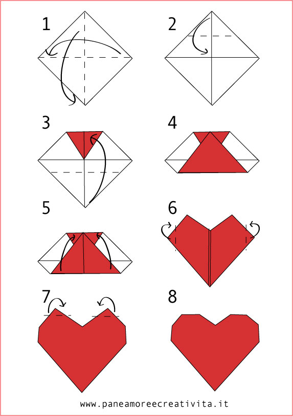 come fare un cuore origami pane amore e creativit. Black Bedroom Furniture Sets. Home Design Ideas