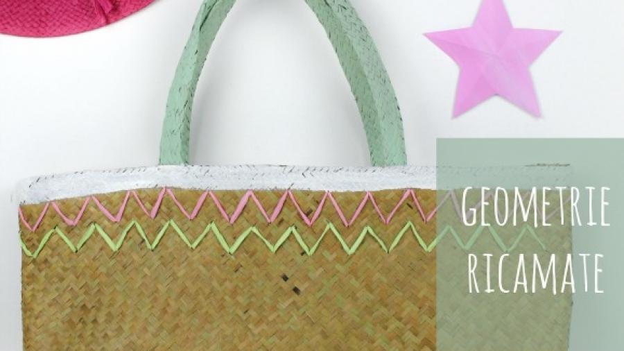decorare borsa paglia
